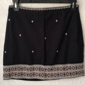 Madewell Embroidered Gamine Skirt